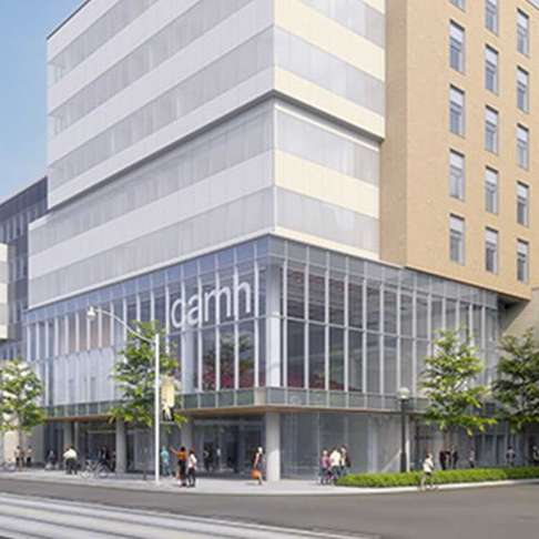 CAMH's new Complex Care & Recovery Building at the corner of Ossington Avenue and Queen Street West